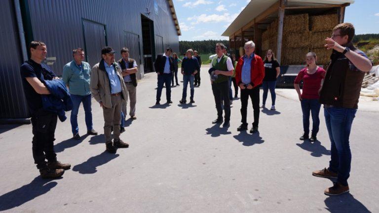 Der Tag des offenen Bauernhofes auf einem Betrieb in Schwandorf, Oberpfalz